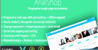 Single progressive page vuejs ecommerce using app