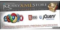 Xml jquery store shop