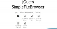 Simplefilebrowser jquery