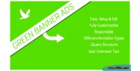 Ads green banner