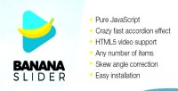 Bananaslider js fast accordion slider video html5