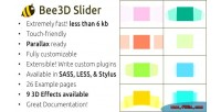 Bee3d slider touch enabled plugin js pure