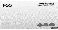 Full fss screen plugin website sliding