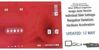 Responsive translucent slider rotator banner