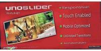Responsive unoslider slider enabled touch
