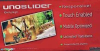 Responsive unoslider slider enabled touch