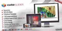 Cute slider 3d 2d slider image html5
