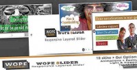 Slider wope the slider layer responsive