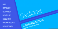 Sliding sectional page sections