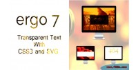 Text transparent with svg & css3