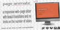 Web pageanimate page slider