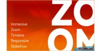 Zoom immersive slideshow responsive timeline