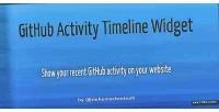 Activity github timeline widget