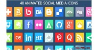 Animated 40 svg icons media social