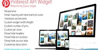 Api pinterest widget plugin jquery responsive