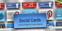Cards social jquery plugin