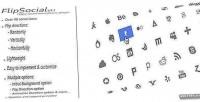 Flippy flipsocial social plugin jquery icons