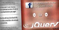 Like facebook jquery download to