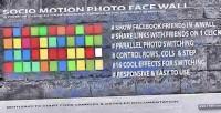 Motion socio wall face photo