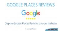 Places google plugin javascript reviews