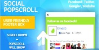 Popscroll social popup footer plugin jquery box