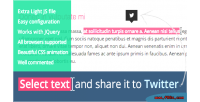Select text & share twitter to it