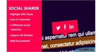 Share socialsharer text selected easily