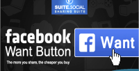 Sharer social button want facebook