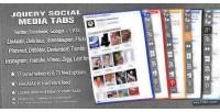 Social jquery media tabs