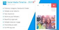 Social jquery media timeline