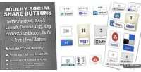 Social jquery plugin buttons share