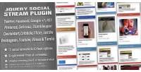 Social jquery stream