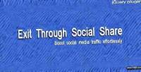 Through exit social share