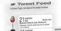 Tweet jquery feed plugin