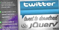 Tweet jquery to download
