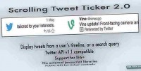 Tweet scrolling ticker