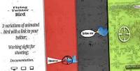 Twitter flying bird