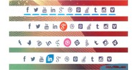 Styles of special animated icons media social styles