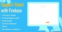 Ticket support firebase with system