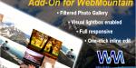 Lightbox visual photo webmountain for gallery