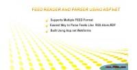 Reader for rss atom & rdf net asp using reader