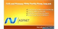To call & message net asp with to