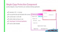 Copy simple protection component
