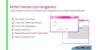 Membership perfect management net for component