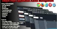 Page single management admin application
