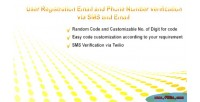 Registration with email & verification number phone registration