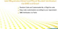 Registration with email & verification number phone registration