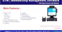 Club gym membership mysql management c system