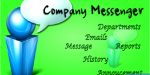Messenger company announcement email chat
