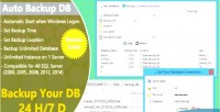 Auto backup db for sql server code source with